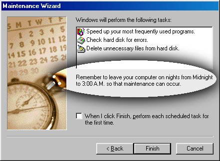 Maintenance and troubleshooting in Windows 98